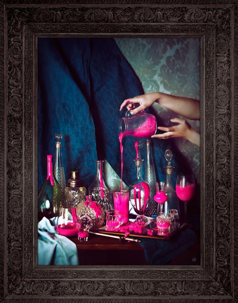 'Still Pink' Canvas by Mineheart
