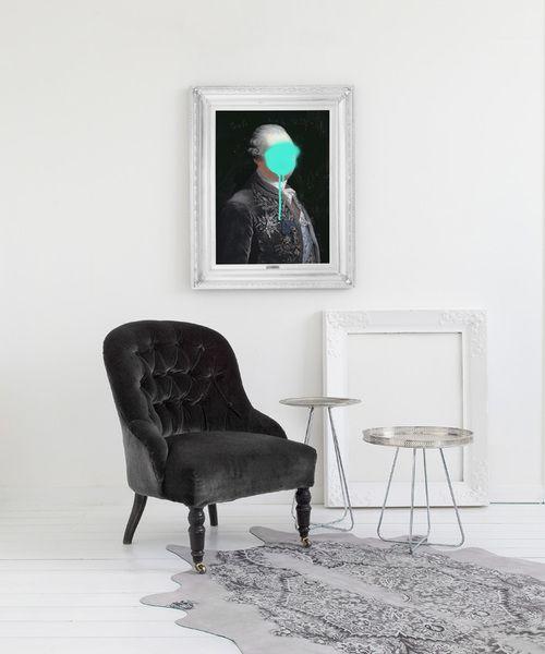 'Monsieur Mint' Canvas by Mineheart