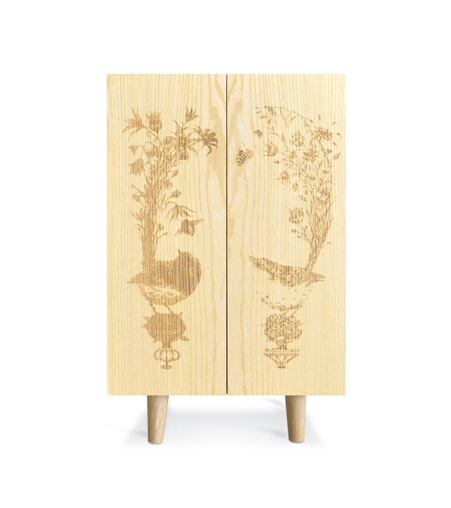 Cherry Ornithological Sketch Cabinet