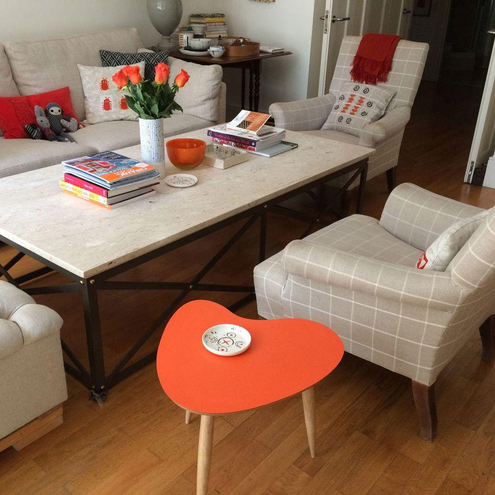 Petal table Orange