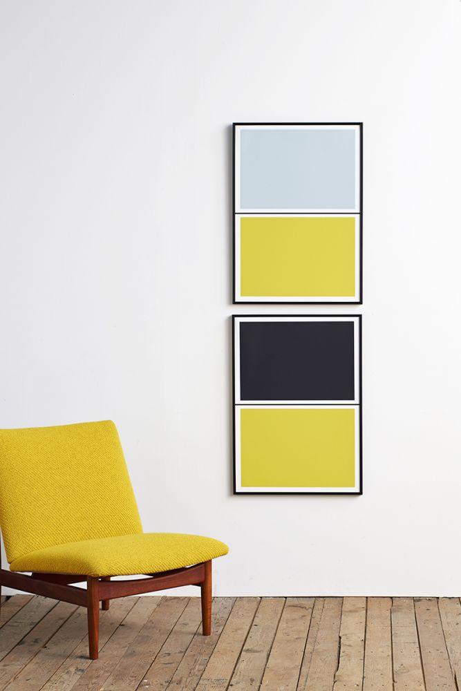 Twin Tone Play Screen Print - Yuzu Yellow & Drift Blue by Lane