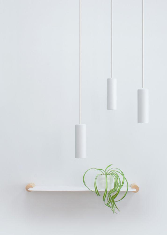 white minimalist pendant lights