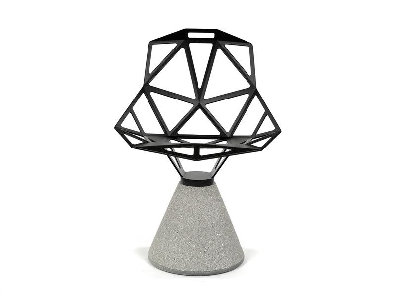 Chair One With Concrete Base by Magis Design