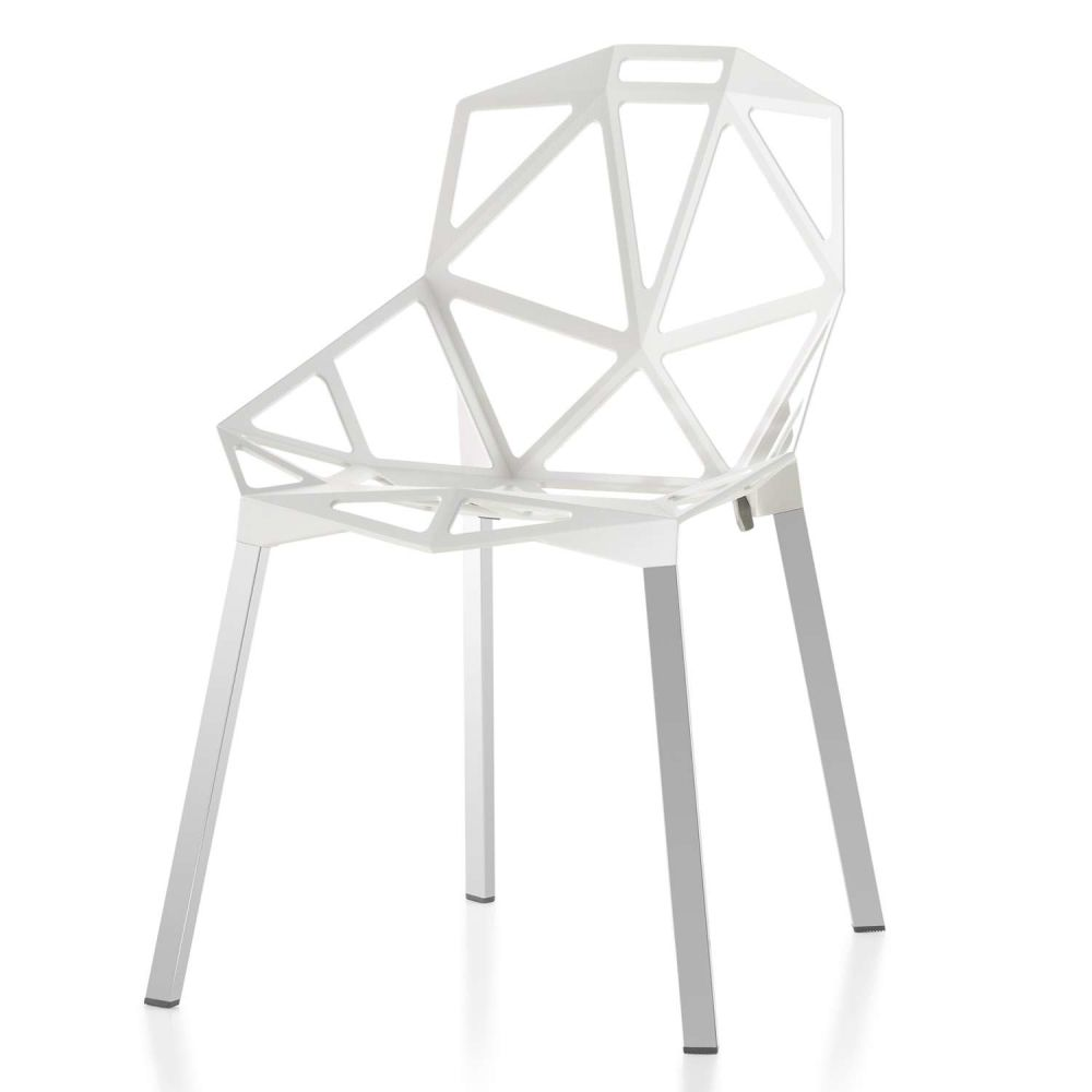 Chair One chair one stacking set of 2 anodised aluminium by magis design