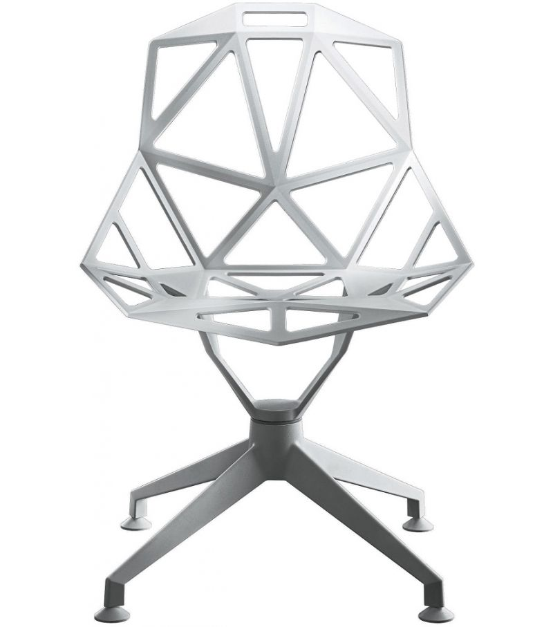 Chair One - 4 Star White, Swivel Base by Magis Design