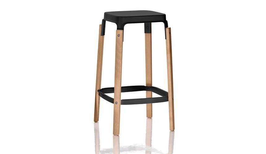 Steelwood Bar Stool Red 78cm By Magis Design