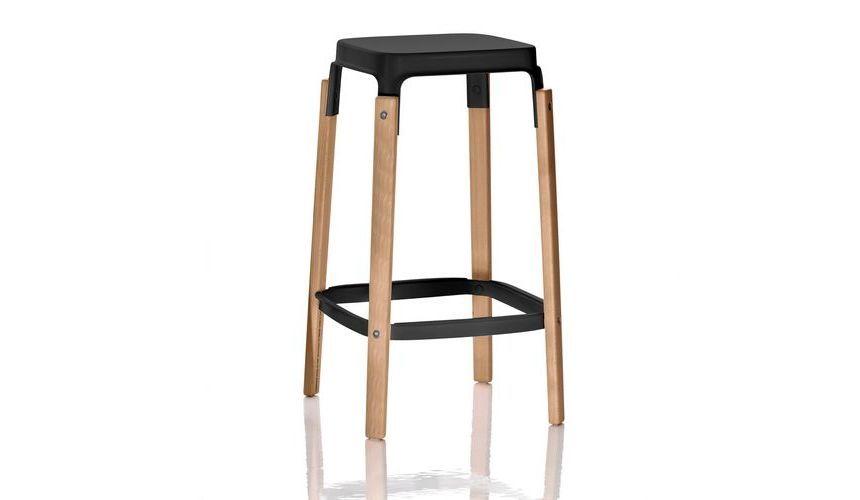Steelwood Bar Stool by Magis Design