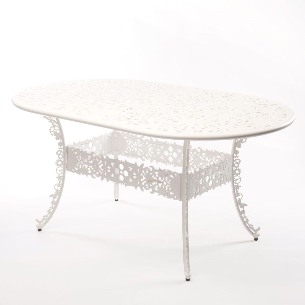 Industry Aluminium Oval Table by Seletti