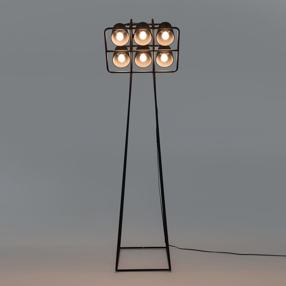 Multilamp Floor With 6 Lampshades by Seletti