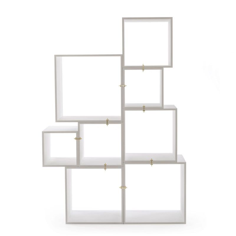 Assemblage Wooden Lacquered Modules by Seletti