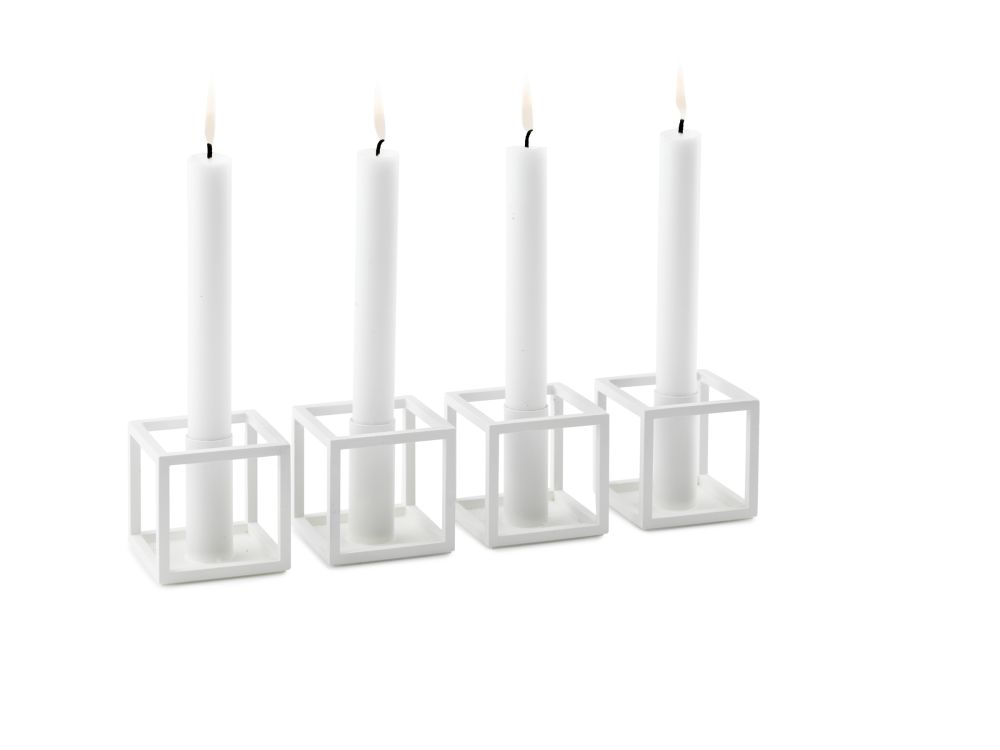 Kubus 1 Candleholder - Set of 4 by by Lassen