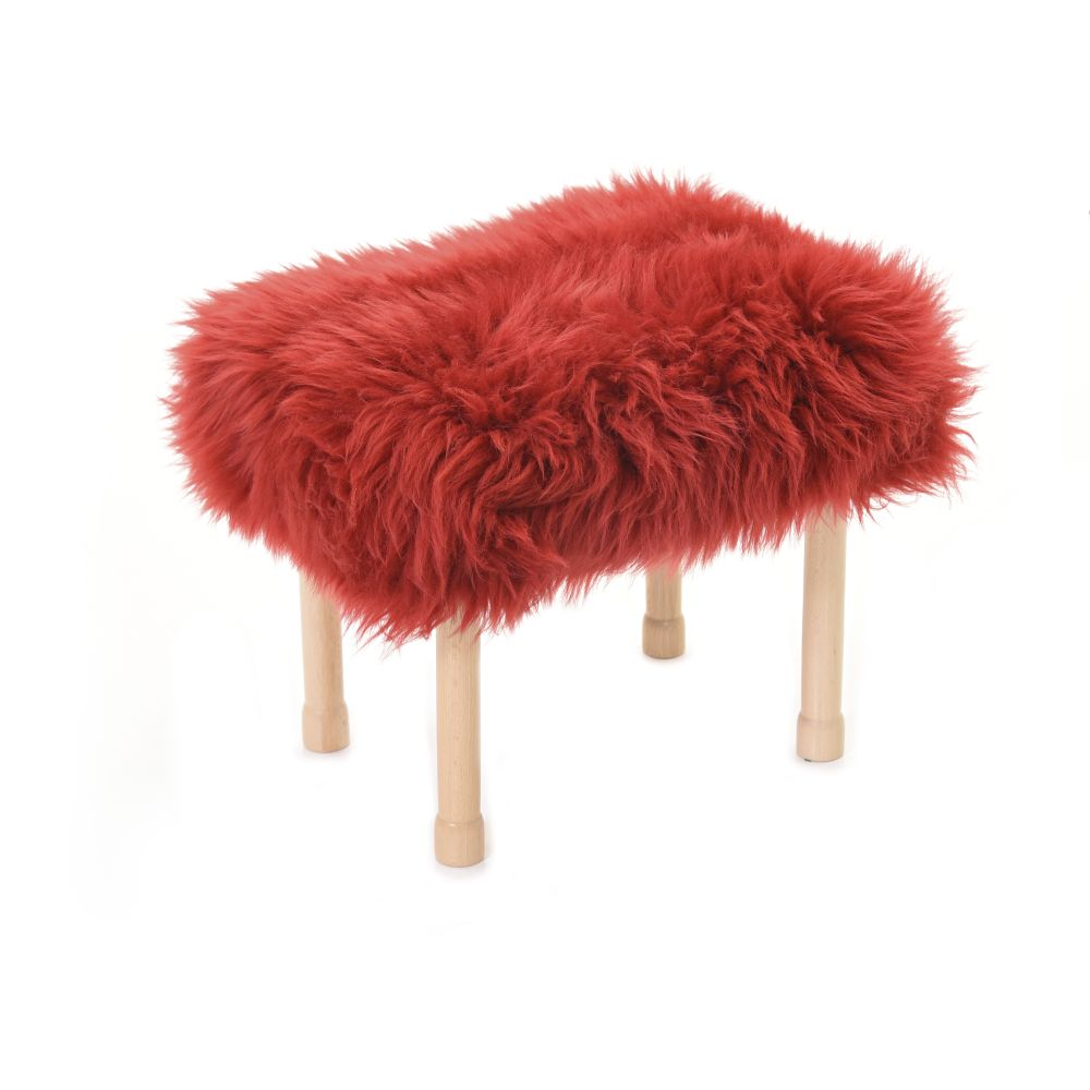 Megan Baa Stool in Dragon Red