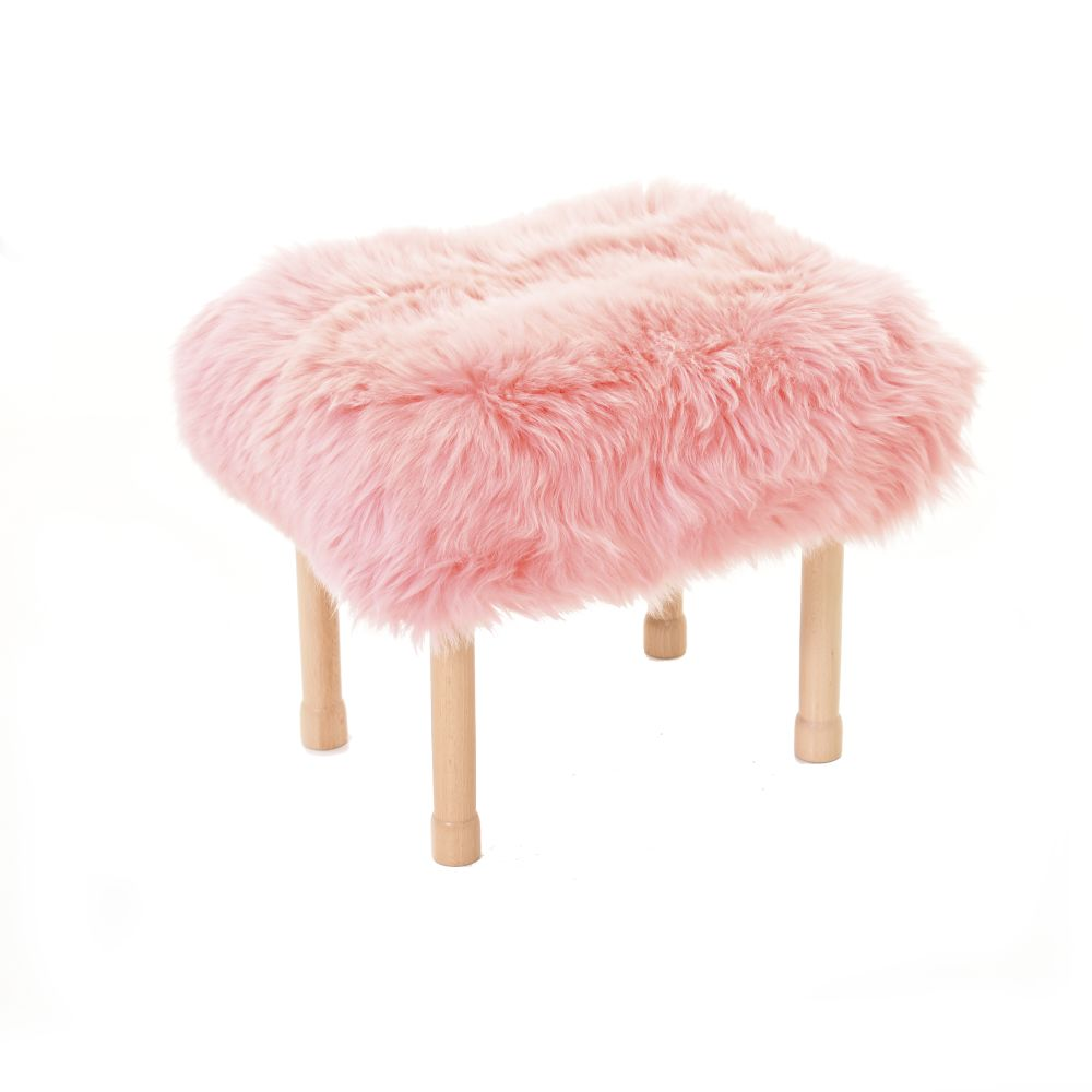 Megan Baa Stool in Baby Pink