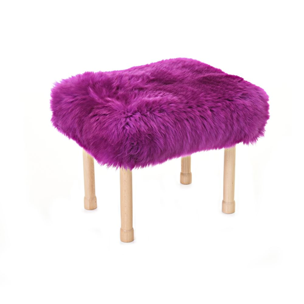 Megan Baa Stool in Cerise
