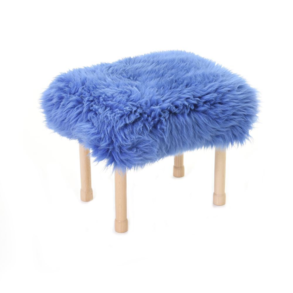 Megan Baa Stool in Cornflower Blue