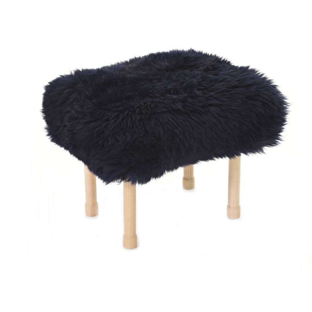 Megan Baa Stool in Navy