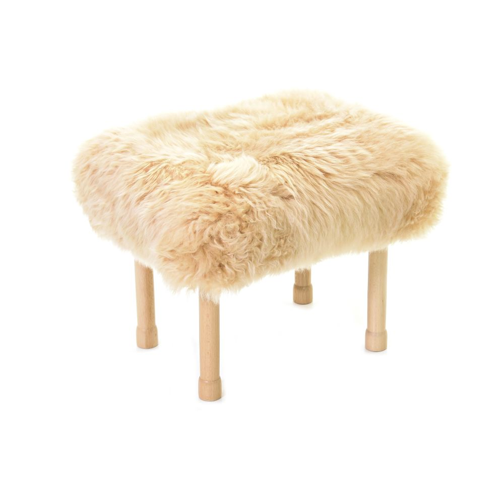 Megan Baa Stool in Buttermilk