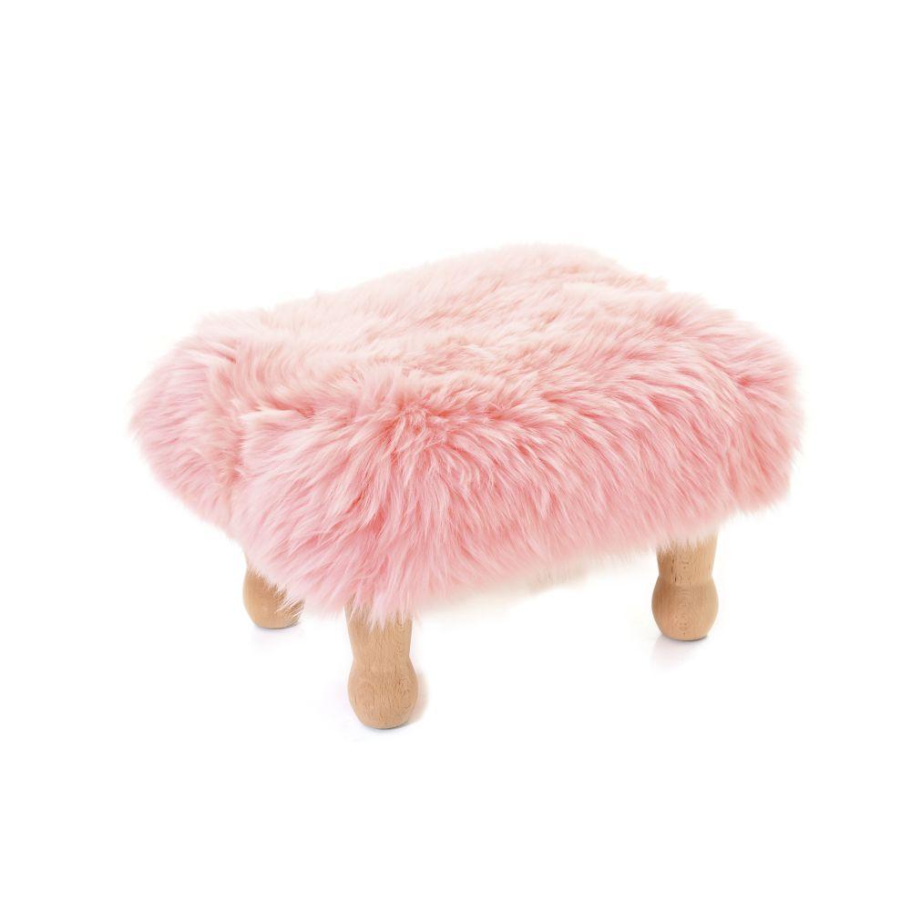 Angharad sheepskin Footstool  by Baa Stool
