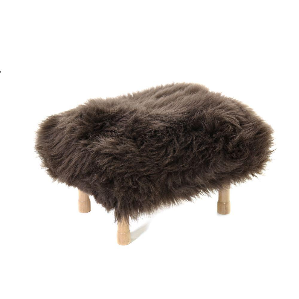 Dilys Sheepskin Footstool  by Baa Stool