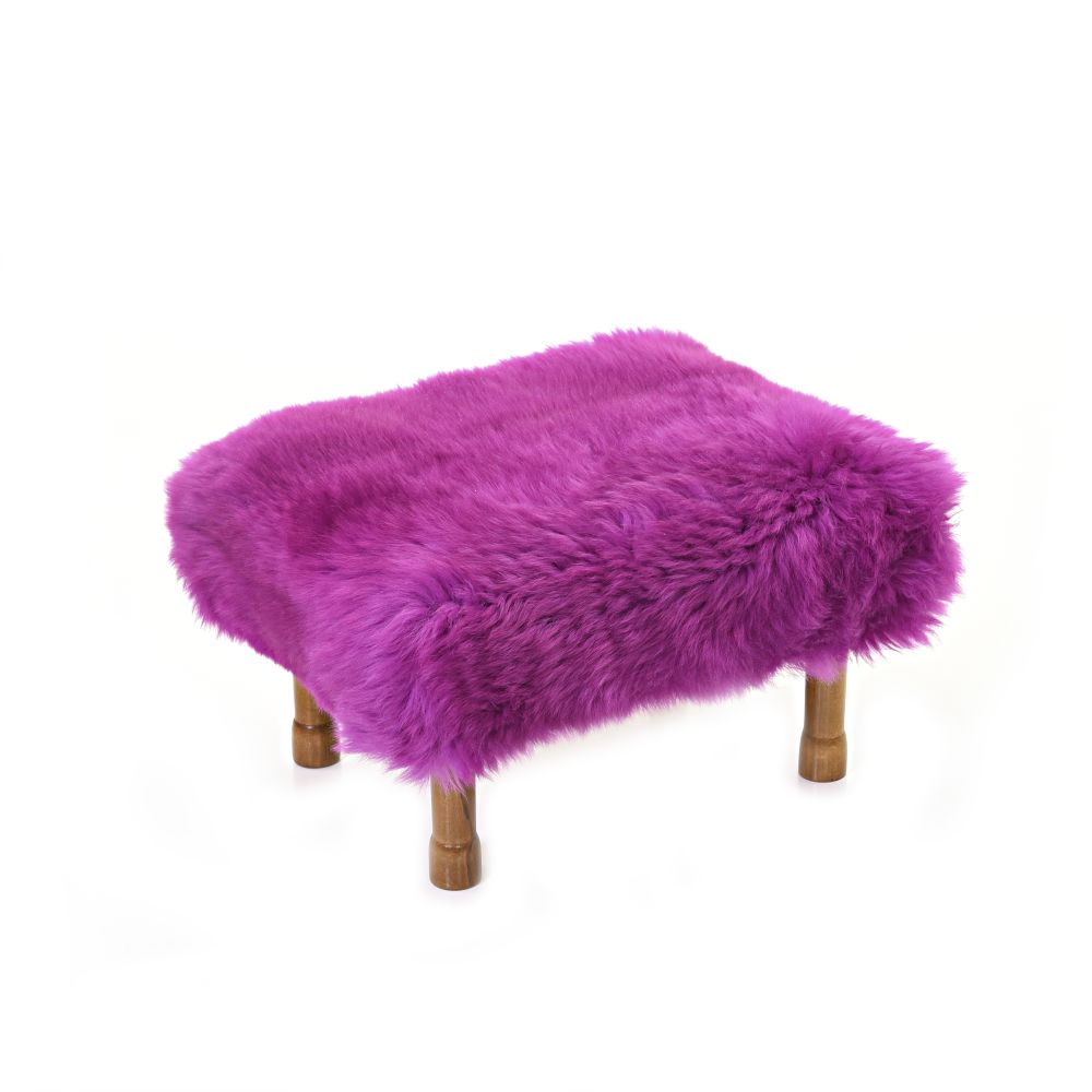 Delyth Sheepskin Footstool  by Baa Stool