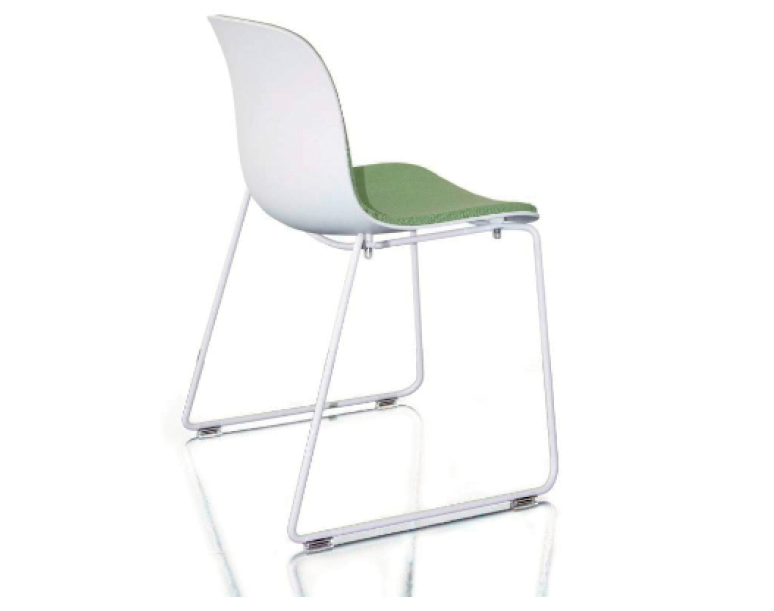 troy stacking chair sledge base with front cover s by magis design