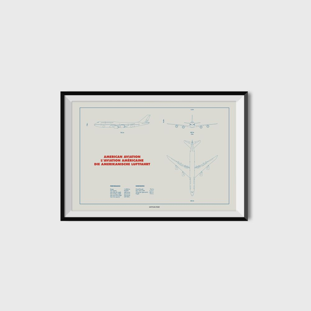 Plan 747 Print by UNTITLED STORY