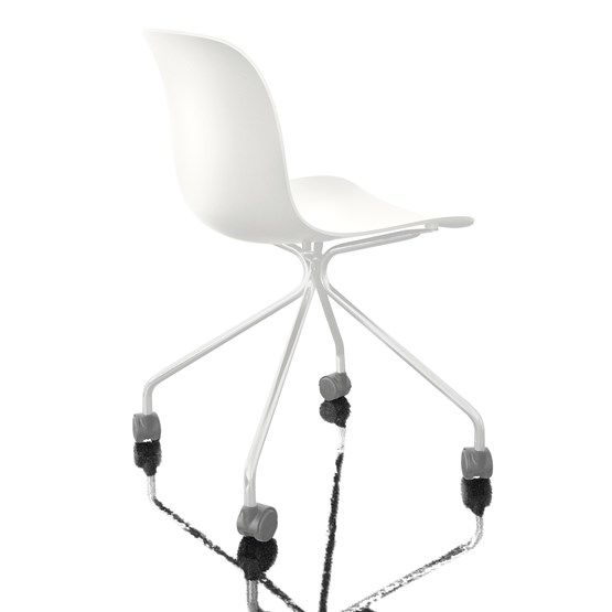 Troy Chair - 4 Star Base on Wheels by Magis Design