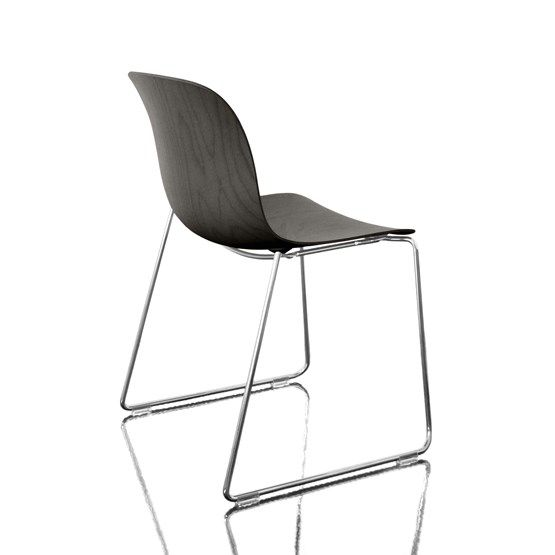 Troy Stacking Chair, Sledge Base - Set of 2 by Magis Design