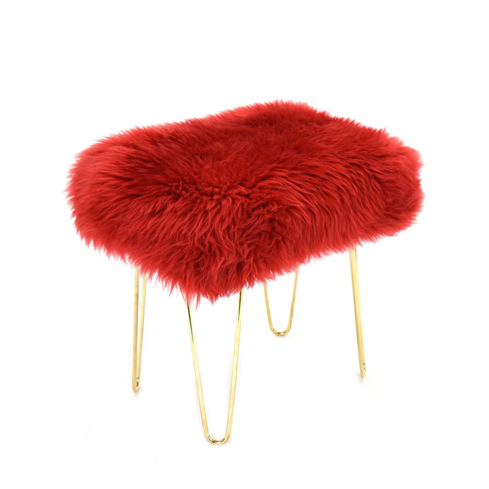 Judy Baa Stool in Dragon Red
