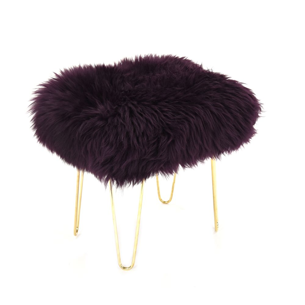 Judy Baa Stool in Aubergine