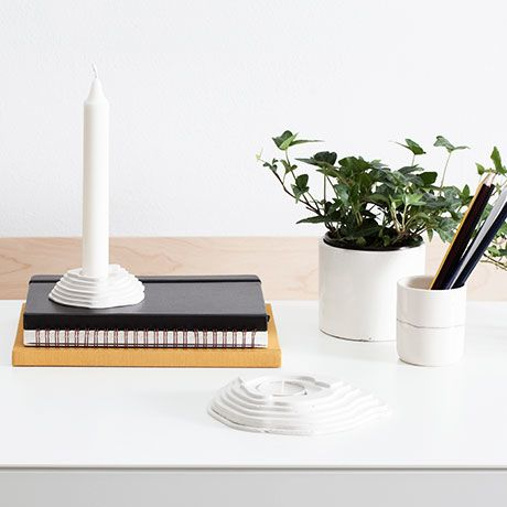 Mont Fuji Tealight Candleholder  by UNTITLED STORY