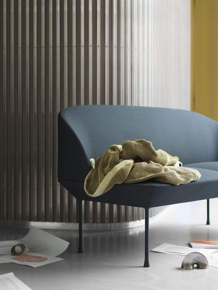 Oslo Sofa - 2 Seater Fiord 151, Dark Grey by Muuto