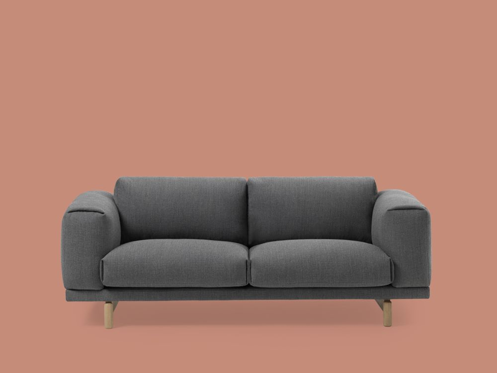 rest 2 seater sofa remix 2 113 oak by anderssen voll for muuto. Black Bedroom Furniture Sets. Home Design Ideas