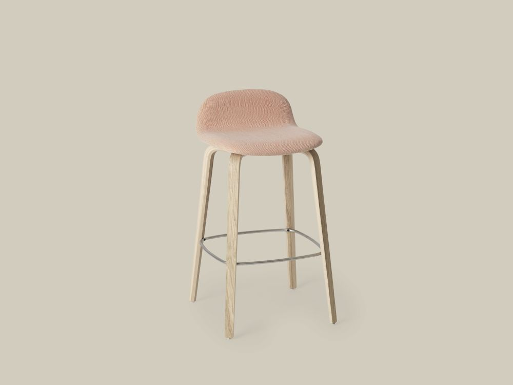 Visu Bar Stool - Upholstered by Muuto