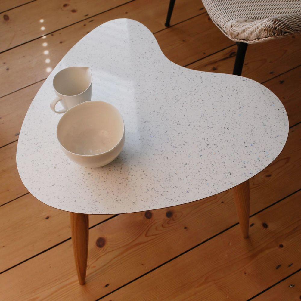Petal table Sparkled White