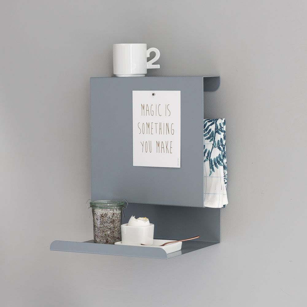 Greyblue Ledge:able Shelf