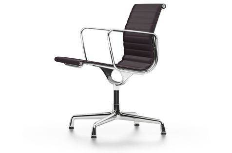 EA 108 Aluminum Chairs - Swivel, With Armrests by Vitra