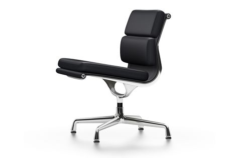 EA 205 Soft Pad Chairs - Non Swivel, Without Armrests by Vitra