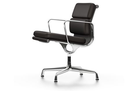 EA 207 Soft Pad Chair - Non Swivel, With Armrests by Vitra
