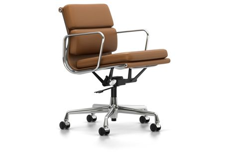 EA 217 Soft Pad Chair - Swivel, With Armrests by Vitra