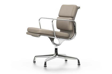 EA 208 Soft Pad Chair - Swivel, With Armrests by Vitra