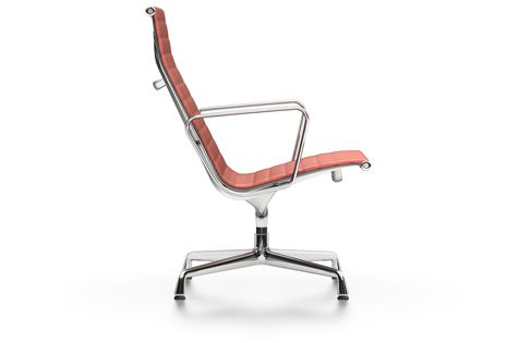 EA 115 Aluminium Soft Pad Chair - non Swivel, With Armrests by Vitra