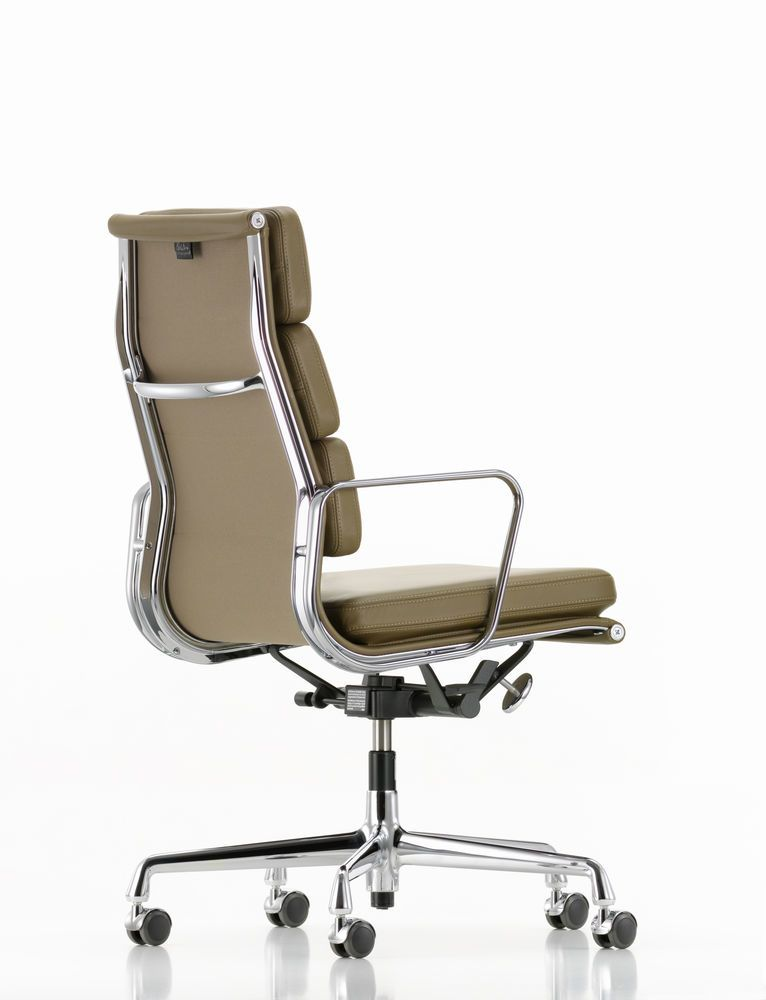 EA 219 Soft Pad Chair - Swivel, With Armrests by Vitra