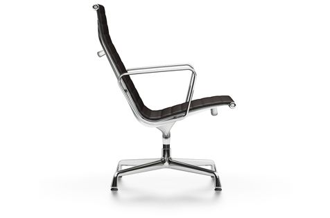 EA 116 Aluminium Soft Pad Chair - Swivel, With Armrests by Vitra