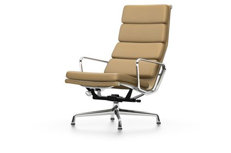 EA 222 Soft Pad Chair - Swivel, With Armrests by Vitra