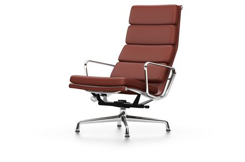 Vitra Chalres Eames : Ea soft pad chair swivel with armrests by vitra