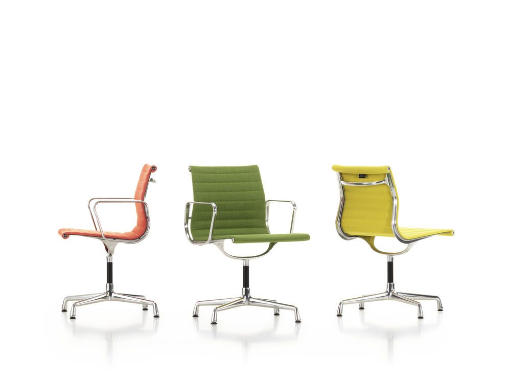 EA 101 Aluminum Chairs - Swivel, Without Armrests by Vitra