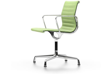 EA 104 Aluminum Chairs - Swivel, With Armrests by Vitra