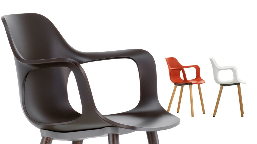 HAL Armchair Wood by Vitra