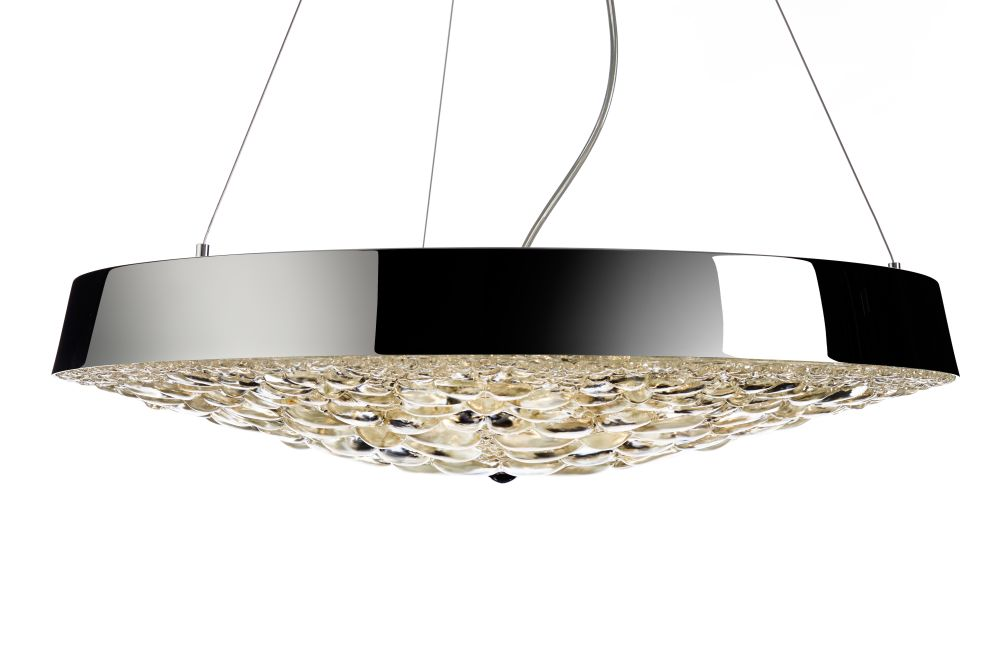 valentin flat pendant light chrome by marcel wanders for moooi